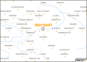map of Nowy Świat