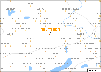 map of Nowy Targ