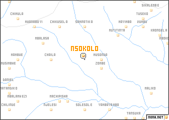 map of Nsokolo