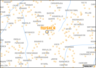 map of Nuishca