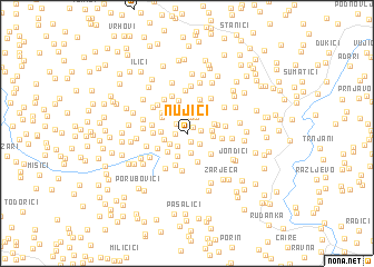 map of Nujići