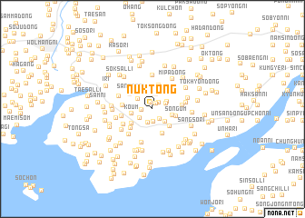 map of Nŭk-tong