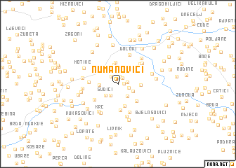 map of Numanovići