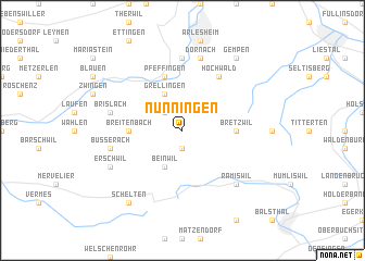 map of Nunningen