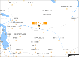 map of Nuschlau
