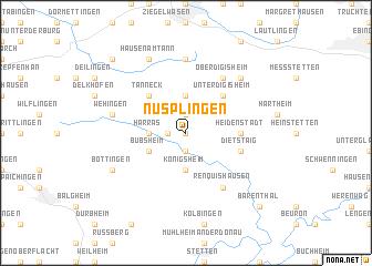 map of Nusplingen