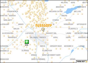 map of Nußdorf