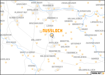 map of Nußloch