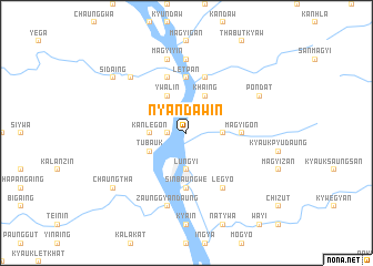 map of Nyandawin