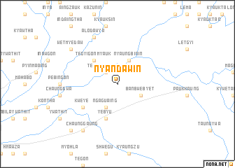 map of Nyandaw-in