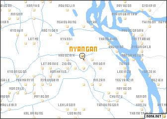 map of Nyangan