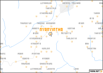 map of Nyanyintha