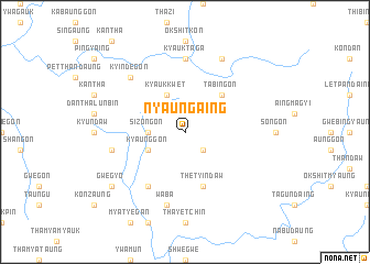 map of Nyaungaing