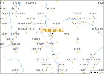 map of Nyaungaing