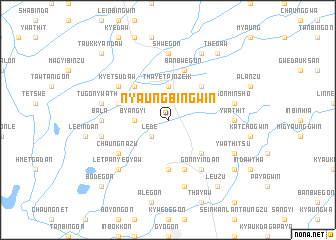 map of Nyaungbingwin