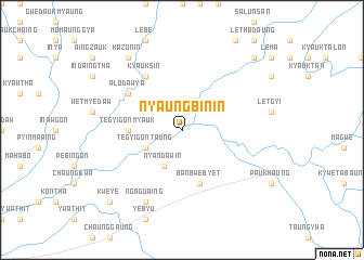 map of Nyaungbin-in