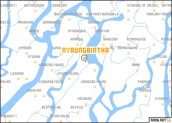 map of Nyaungbintha