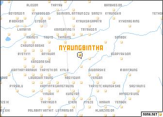 map of Nyaungbintha