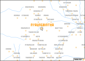 map of Nyaung-bin-tha