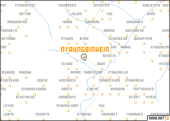 map of Nyaungbinwein