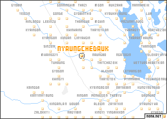 map of Nyaungchedauk