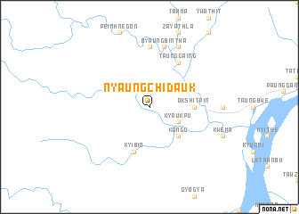 map of Nyaung-chi-dauk
