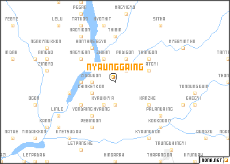 map of Nyaunggaing