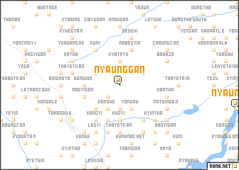 map of Nyaunggan