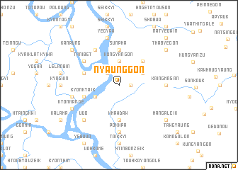 map of Nyaunggon