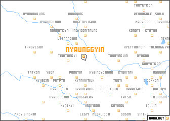 map of Nyaunggyin