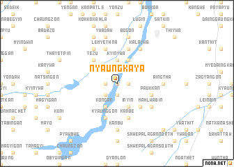 map of Nyaungkaya
