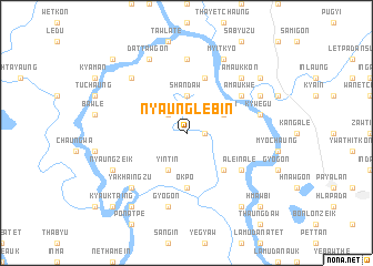 map of Nyaunglebin
