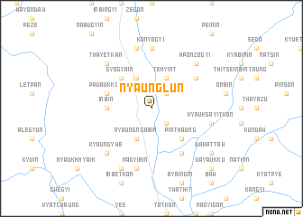 map of Nyaunglun
