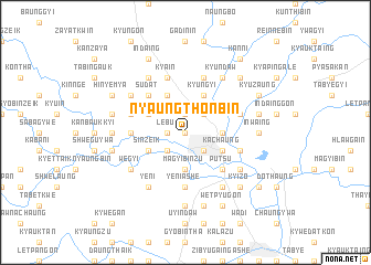 map of Nyaungthonbin