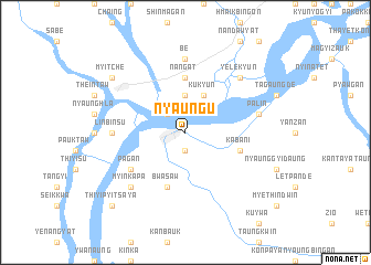 map of Nyaungu
