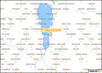 map of Nyaungwin