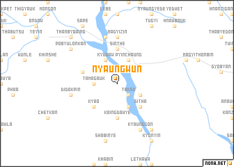 map of Nyaungwun