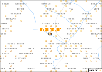 map of Nyaungwun