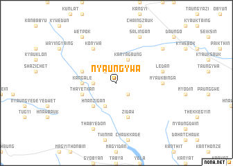 map of Nyaungywa