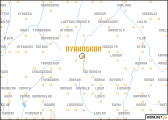 map of Nyawngkon
