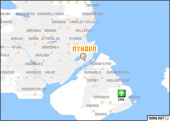 Nyhavn Denmark map nonanet