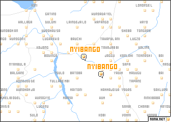 map of Nyibango