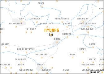 map of Nyomás