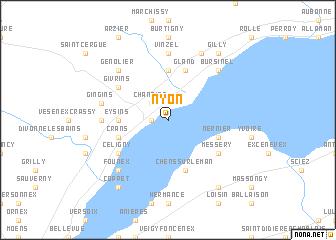 Nyon Switzerland map nonanet