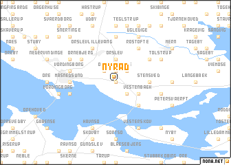 map of Nyråd