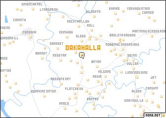 map of Oakahalla