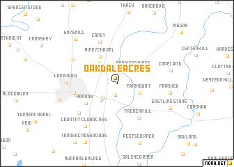 map of Oakdale Acres