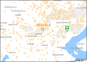 map of Oakdale