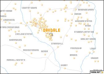 map of Oakdale