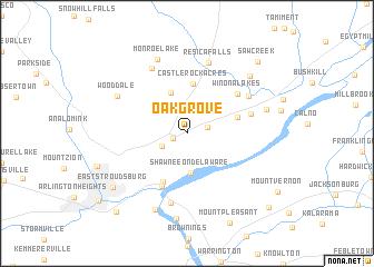 map of Oak Grove